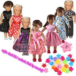 ZWSISU Super Value 7pcs 18inch American Girl Doll Clothes an