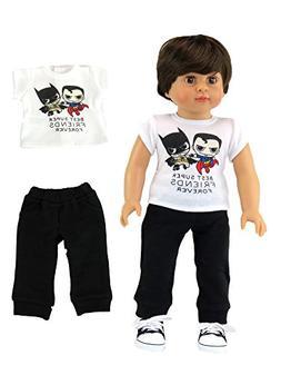 "Superhero Shirt and Pants| Fits 18"" American Girl Dolls, Mad"
