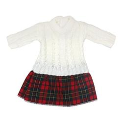 AOFUL Sweater Doll Clothes Dress 16-18 inch American Girl Do