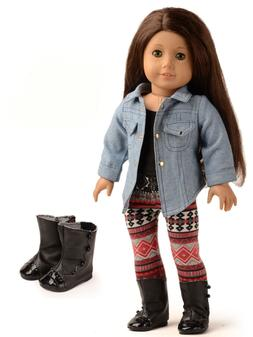 sweet dolly 4pc doll clothes denim jacket