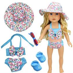 Swimsuit clothes Set for 43cm American Girl Dolls: Includes