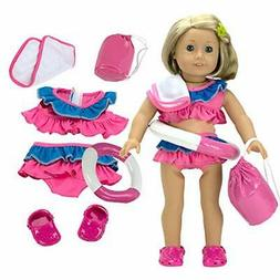 "Dress Along Dolly Swimsuit Set Doll Clothes for 18"" Dolls: 6"