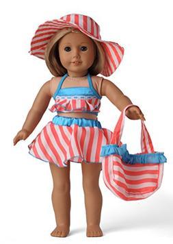 Doll Clothes 5pc Swimwear Bikini Outfit Fits 18 Inches Ameri