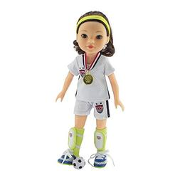14 Inch Doll Clothes | Team USA-Inspired 8 Piece Soccer Outf