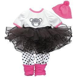 """Adora """"Teddy Tutu Dress Clothes Outfit Set Pack for 18 Inch"""