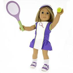 Tennis Outfit for American Girl Dolls: 6 Pc