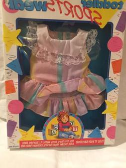 Toddler Baby Doll Sportswear Dress Vintage Multi Toys Corp F