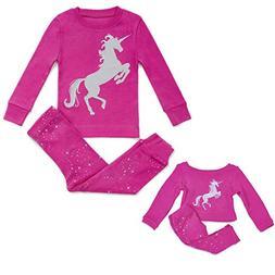Bluenido Kids & Toddler Pahamas Matching Doll & Girls Pajama