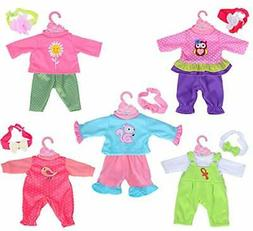 ebuddy Total 5-Sets Doll Clothes Outfits Accessories for for