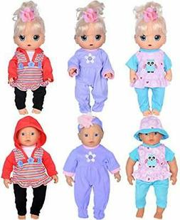 "ebuddy Total 7pcs Doll Playtime Outfits Clothes for 10""-12""-"