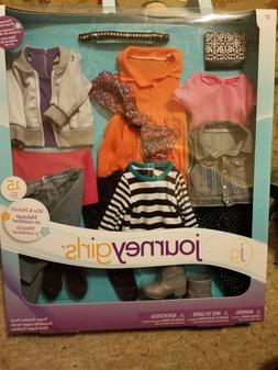 Toys /'R Us 15 pc Mix /& Match JOURNEY GIRL DOLL OUTFIT GIFT SET Clothes Shoes