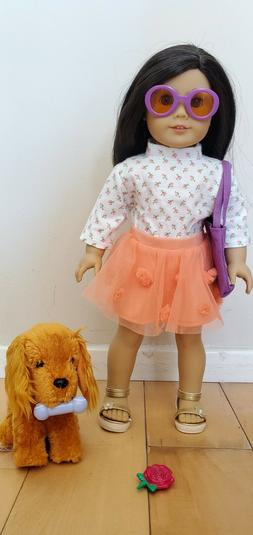 Truly Me American Girl Doll w/ clothes, dog, and dog accesso