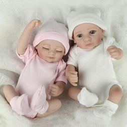 Twins Preemies Newborn Baby Dolls Lifelike Full Body Vinyl S