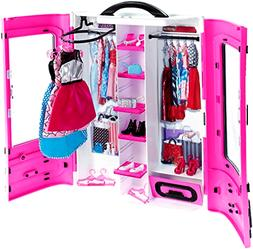 Ultimate Closet Pink Barbie Fashionistas Portable Mattel Cla