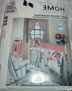UNCUT 90s Crib Baby Room Essentials Raggedy Ann Andy McCalls