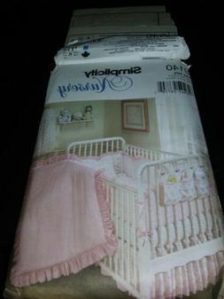 UNCUT SIMPLICITY #9140 BABY NURSERY ROOM ACCESSORIES SEWING