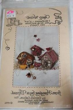 UNCUT craft sewing pattern Cheep Wrent birdhouse birds chick
