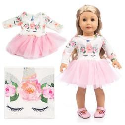 unicorn doll clothes dress outfits for 18