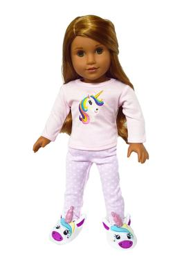 Unicorn Pajamas for American Girl Dolls Clothes 18 Inch Doll