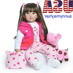 "US 24"" Deer Dress Doll Reborn Baby Girl Doll Toddler Realist"