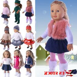 US Doll Clothes Dress Outfits Pajames For 18 inch American G