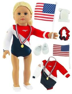 "Super Fun Gymnastic SetFits 18/"" American Girl Dolls Made such as American ..."