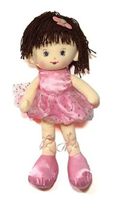 Valerie Rag Doll with Pink Dress 16 Inch
