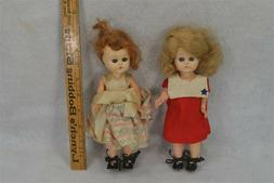 vintage doll pair girls plastic jointed sleep eye clothes sh