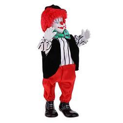 SM SunniMix 38cm Vintage Hand Painted Porcelain Clown Doll i