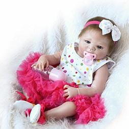 "iCradle Full Body Vinyl Silicone Reborn Toddler Doll 18"" 45c"