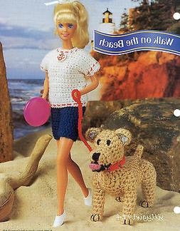 """WALKING SHORT SET & DOG""~Annie's Crochet PATTERN ONLY fits"