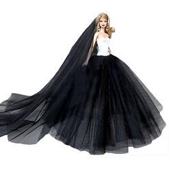 Gosear Wedding Dress for Barbie, Elegant Fairy Girl Dolls To