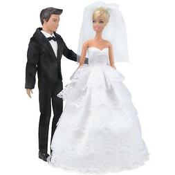 E-TING Wedding Gown Dress Clothes + Formal Suit Outfit For B