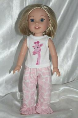 Wellie Wishers Dress Pajamas fits 14inch American Girl Doll