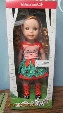 "AMERICAN GIRL WELLIE WISHERS WILLA Doll 14.5 "" Inch NEW in B"