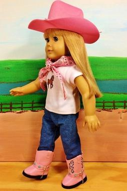 "Western Cowboy Horse Outfit fits 18"" American Girl Doll Clot"