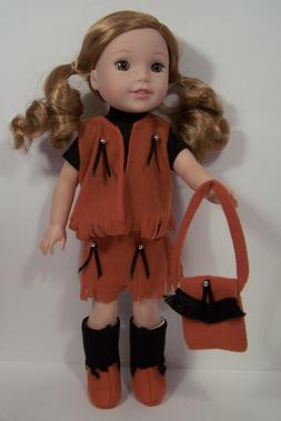 """Western Cowgirl Doll Clothes w/Boots For 14"""" Am Girl Wellie"""