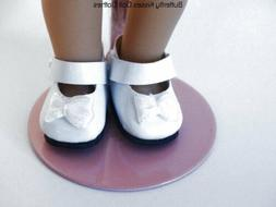 White Bow Mary Jane Shoes Doll Clothes Fits 6 in Mini Americ