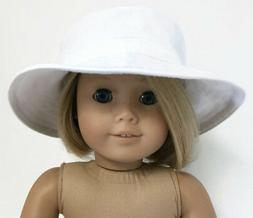 White Canvas Hat Accessories fits 18 inch American Girl Doll