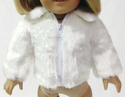 White Fur Jacket Coat made for 18 inch American Girl Doll Cl