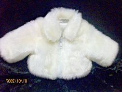 """Doll Club of America White Fur Zipper Jacket Coat18"""" America"""