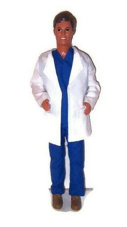 White Lab Coat-Doll Clothes