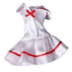 Jili Online White School Uniform Outfit Clothes for Barbie D