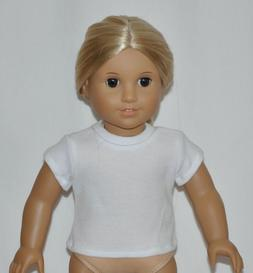 White Short Sleeve T-Shirt Made To Fit American Girl Doll Do