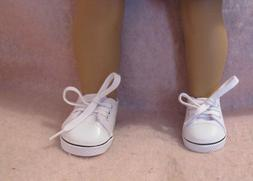 White Tennis Shoes fit American Girl Doll 18 Inch Clothes Se