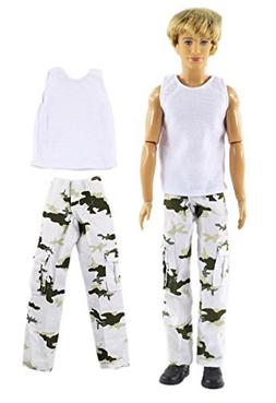 HongShun White Fashion Vest Military Uniform Outfit for 12""