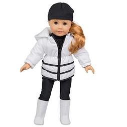 Dress Along Dolly Winter Outfit for American Girl Dolls - 5