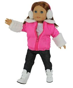 Dress Along Dolly Winter Snow Outfit for American Girl Dolls