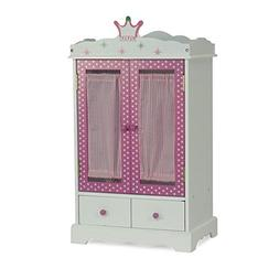 18 Inch Doll Closet Wish Crown | Doll Clothes Storage Furnit