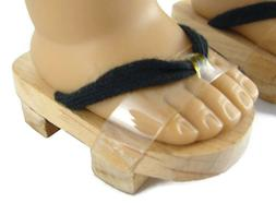 """Wooden Japanese Geta Style Sandals made for 18"""" American Gir"""